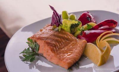 рыба жаренная с овощами