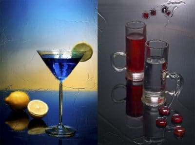 календарь коктейль, рюмка, фон,натюрморт