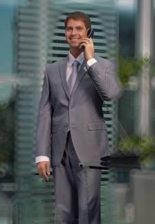 бизнесмен в банке